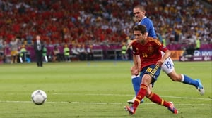 Jordi Alba slots home Spain's second goal