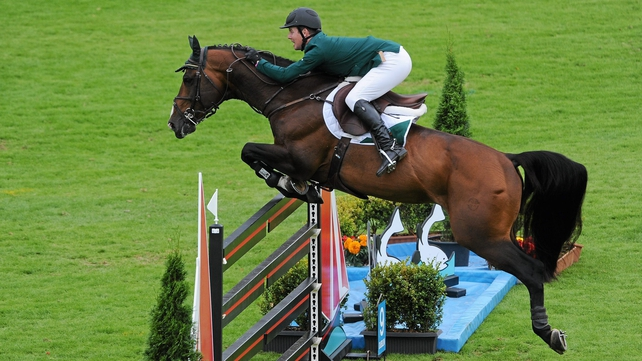 Shane Sweetnam was just over a second off winner Beezie Madden