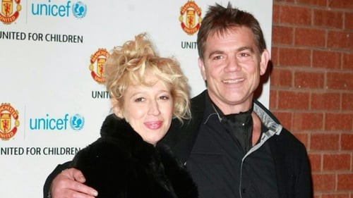John Michie with Corrie co-star Katy Cavanagh, who plays Julie Carp.
