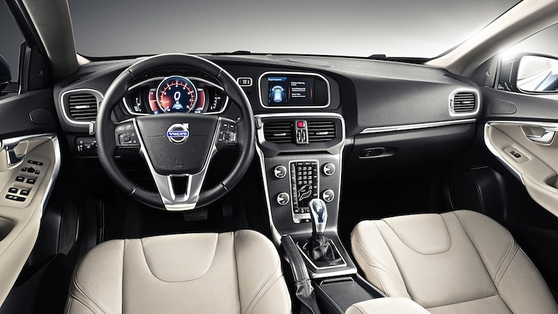 The cabin features very comfortable seats, some lovely illumination and, of course, the familiar Volvo switchgear