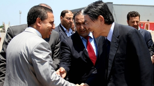 ICC President Sang-Hyun Song met with Libya's justice minister to discuss the team's release