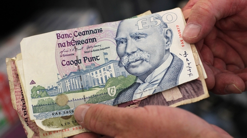 More than €224m in old Irish notes and more than €123m in old Irish coins is still unaccounted for