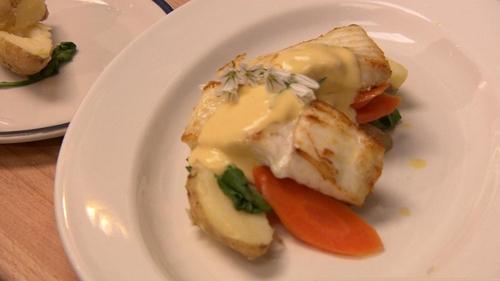 Martin Shanahan's Poached Turbot with Ballycotton Potato & Hollandaise Sauce