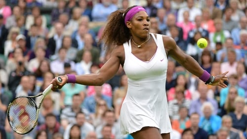 Serena Williams was in magnifcent form as she dumped out Petra Kvitova
