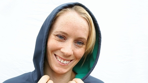 Ireland's 100m hurdles star Derval O'Rourke was all smiles at the event