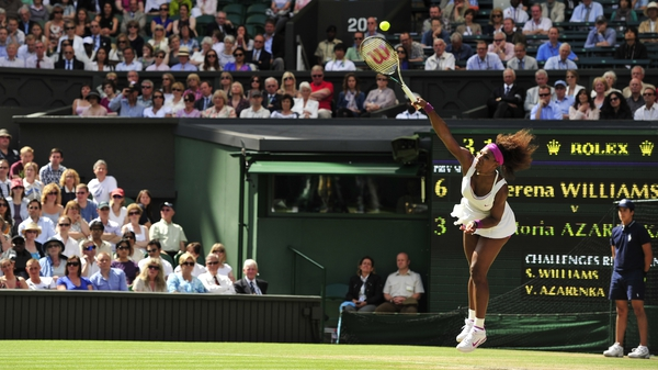 Serena Williams hammered down an incredible 24 aces on Centre Court