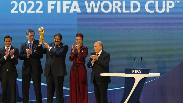 Qatar was awarded the right to host the World Cup in 2022