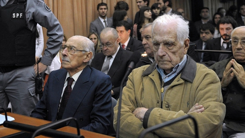 Jorge Videla and Reynaldo Bignone are believed to have overseen the theft of 400 babies from leftist detainees
