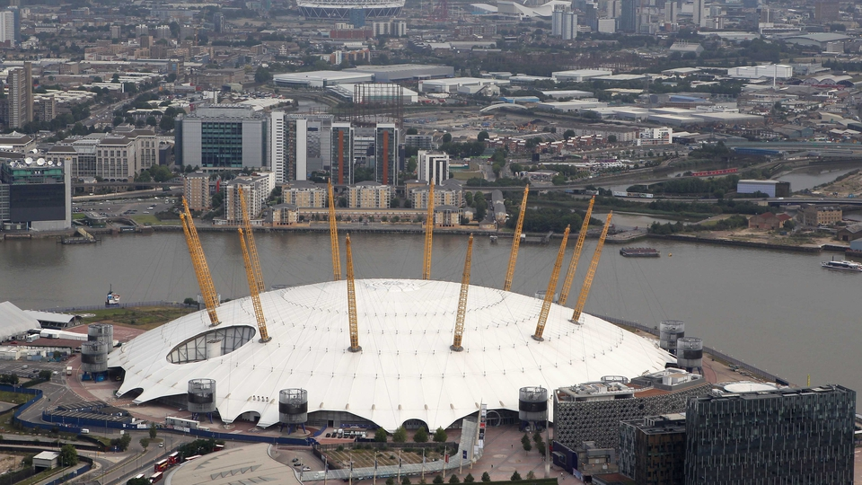The North Greenwich Arena, also known as The Dome, will host artistic gymnastics, trampoline, basketball and wheelchair basketball