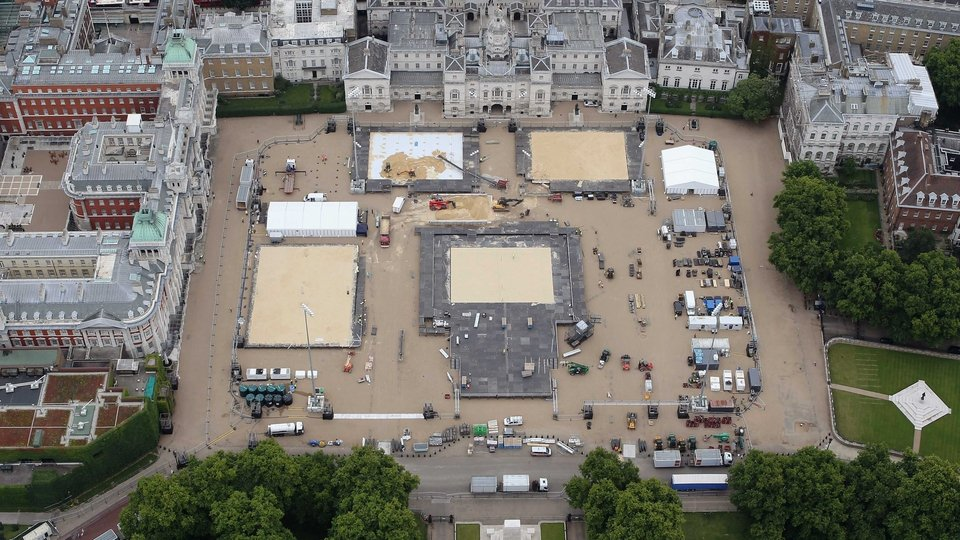 Horseguards Parade which will host beach volleyball events