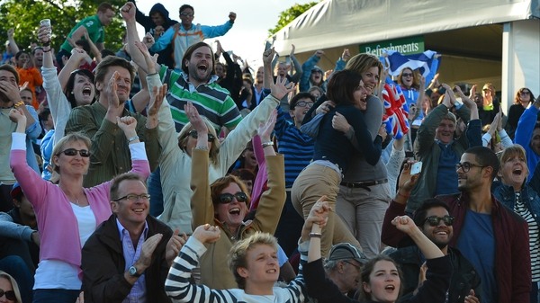 Murray Mount goes mad as the great British tennis hope Andy Murray qualifies for the Wimbledon final