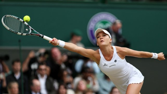 Agnieszka Radwanska battled hard to win the second set