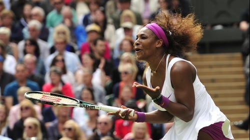 Serena Williams recovered from a mid-match wobble