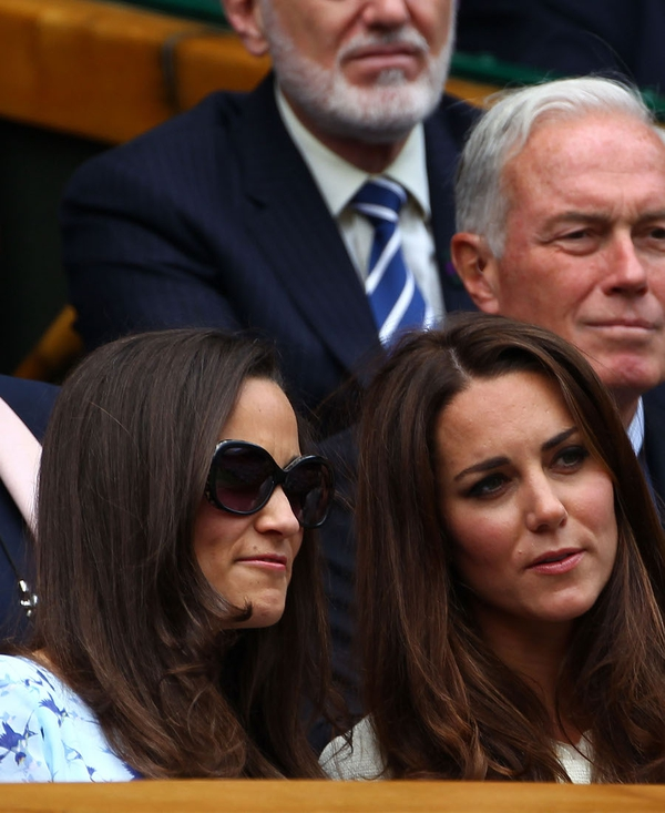 Pippa and Catherine enjoy the final day of Wimbledon