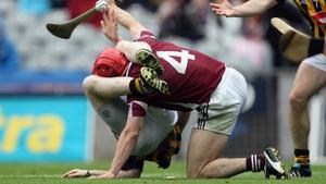 Richie Power found himself under pressure from Galway's Fergal Moore