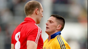 Clare's Graham Kelly might have thought better of squaring up to giant Cork midfielder Alan O'Connor
