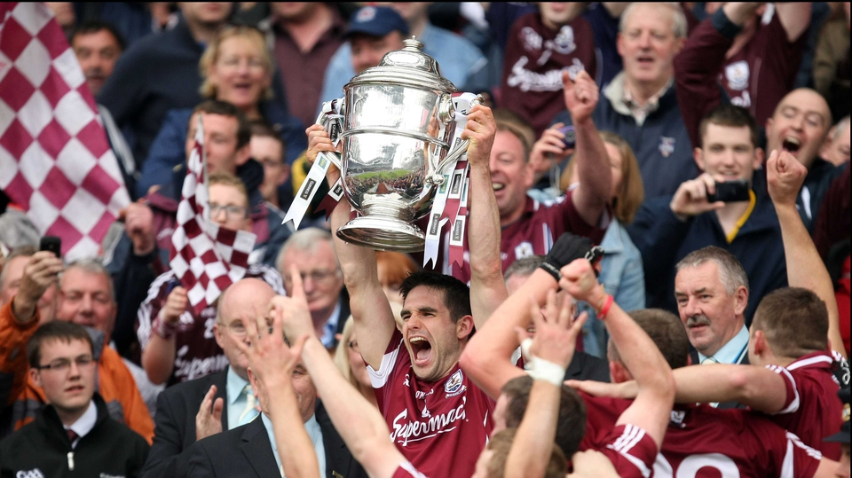 Galway captain Fergal Moore became the first man from the county to lift the Bob O'Keefe Cup