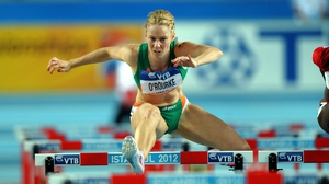 Derval O'Rourke suffered a back spasm which prevented her from taking her place in the 100m hurdles at the National Championships
