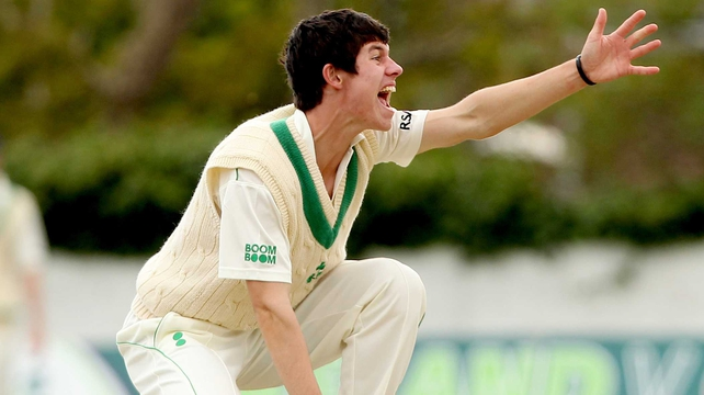 George Dockrell took three wickets against the Netherlands