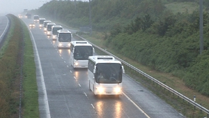Convoy of 15 coaches left Inniskeen today