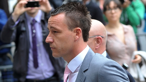 Chelsea and England star John Terry arrives at Westminster Magistrates' Court in London