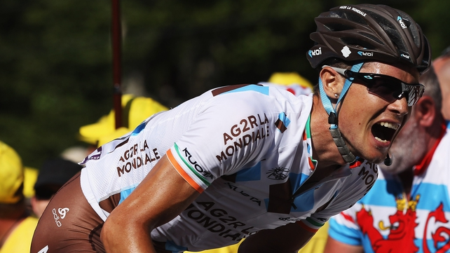 Nicolas Roche is in a good position in the Vuelta a Espana