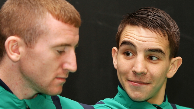 Michael Conlan (right) cites Paddy Barnes' (left) bronze medal-winning exploits at Beijing 2008 as one of his inspirations to qualify for London 2012