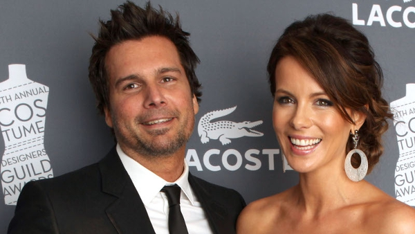 Len Wiseman with wife, Kate Beckinsale