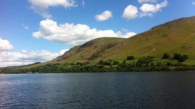 Lake Ullswater in the English Lake District