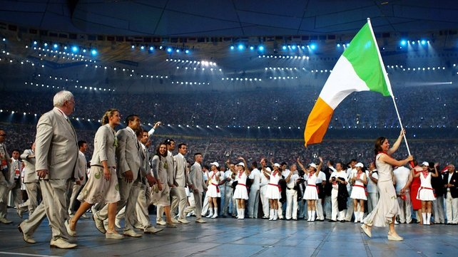 Ciara Peelo carried the Irish flag at Beijing 2008