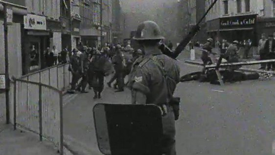 British Troops on the Bogside in Derry on 14 August 1969.