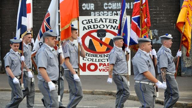 Orange Order in Ardoyne last year