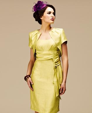 Dress €200 Bolero €135 Fascinator €75, by Alexon