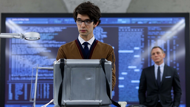 Ben Whishaw's Q is well able to hold his own with Bond