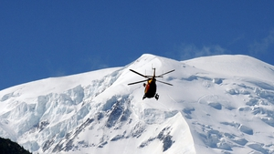 Helicopters work on rescue operation
