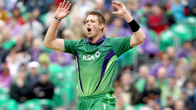 Boyd Rankin played 79 times for Ireland, taking 110 wickets at an average of 24.05, with a best bowling return of 5-39 against Namibia in 2008