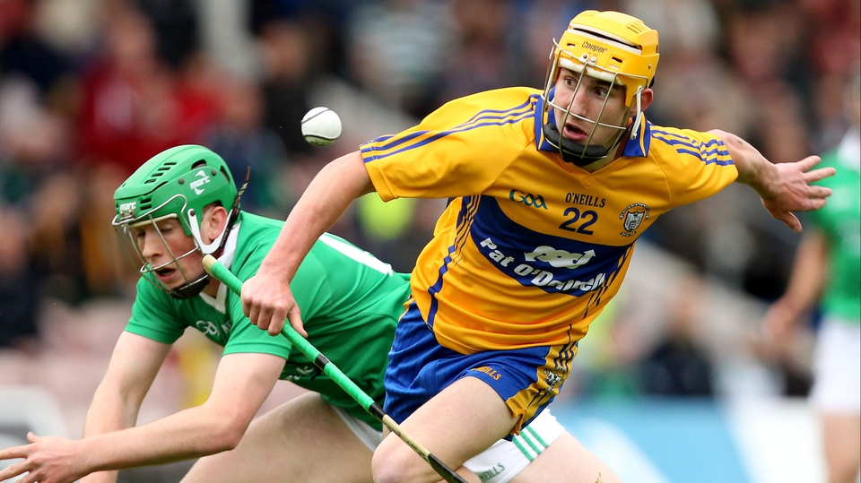 Colm Galvin of Clare evades Limerick's Shane Dowling