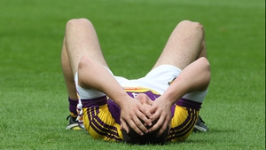 Wexford's Ciarán Lyng cuts a dejected figure at the final whistle