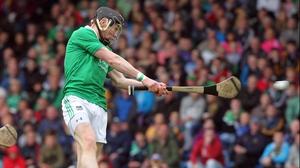 Wayne McNamara fires home Limerick's first goal