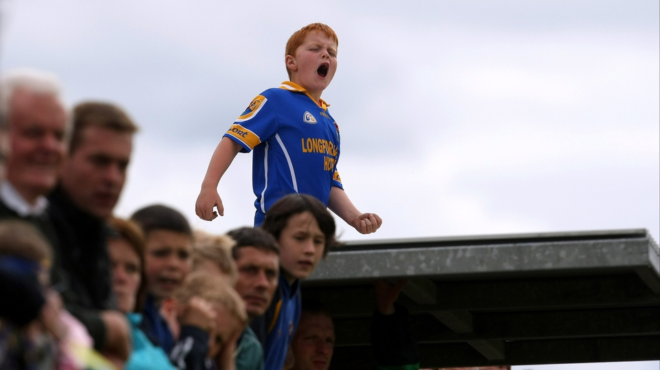 A young Longford supporter demands more from his team