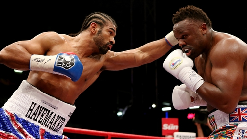 David Haye's most recent fight came against Dereck Chisora last July