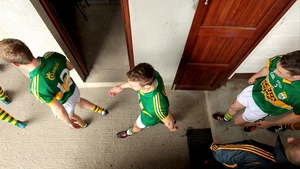 The Kerry side prepare to enter the field at Cusack Park in Mullingar