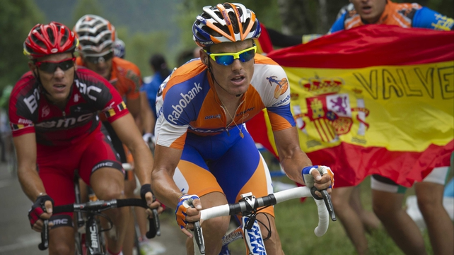 Spain's Luis-Leon Sanchez (r) secured a fourth Tour stage victory but the day's action had little impact on the general classification