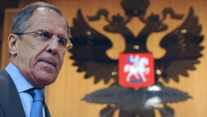 Sergei Lavrov outlined his position ahead of a meeting with envoy Kofi Annan today