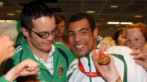 Darren O'Neill and Darren Sutherland pictured after 2008 Olympics