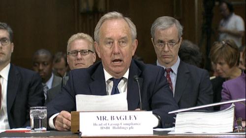 HSBC compliance executive David Bagley announced his resignation