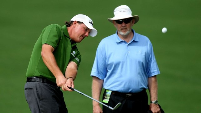 Dave Pelz with his most famous student Phil Mickelson at the 2008 Masters