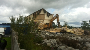 The NAMA-owned apartments are being demolished