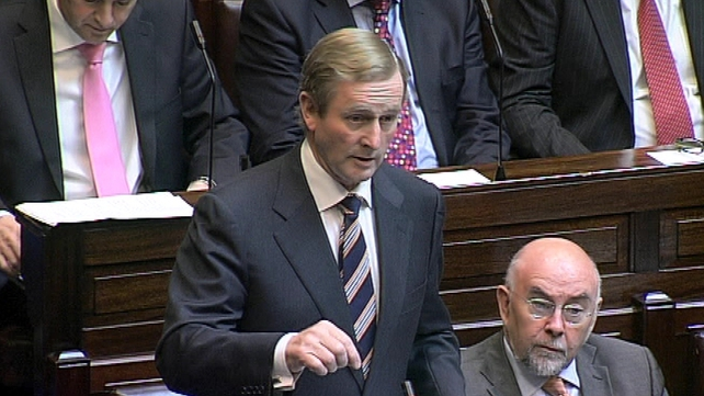 Support for Enda Kenny fell to 38%
