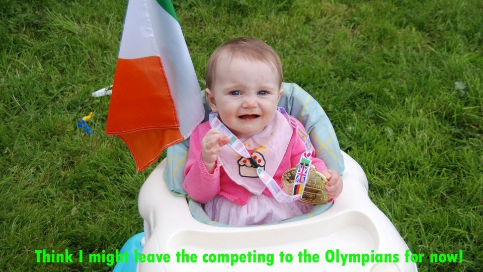 A future Olympian looks a little nervous ahead of the Games!